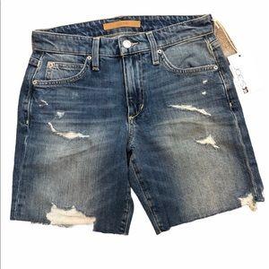 Joes Jeans Distressed Denim Jean Shorts 23 New